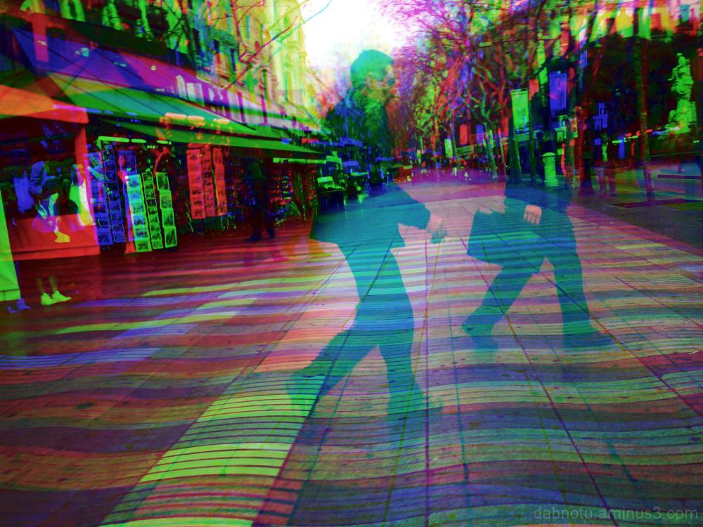 Barcelona street smartphonography, RGB/GIMP.