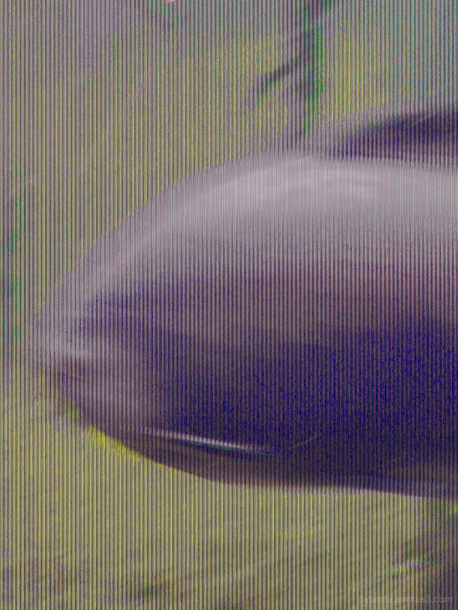 Glitch portrait, fish, artificial tropical forest.