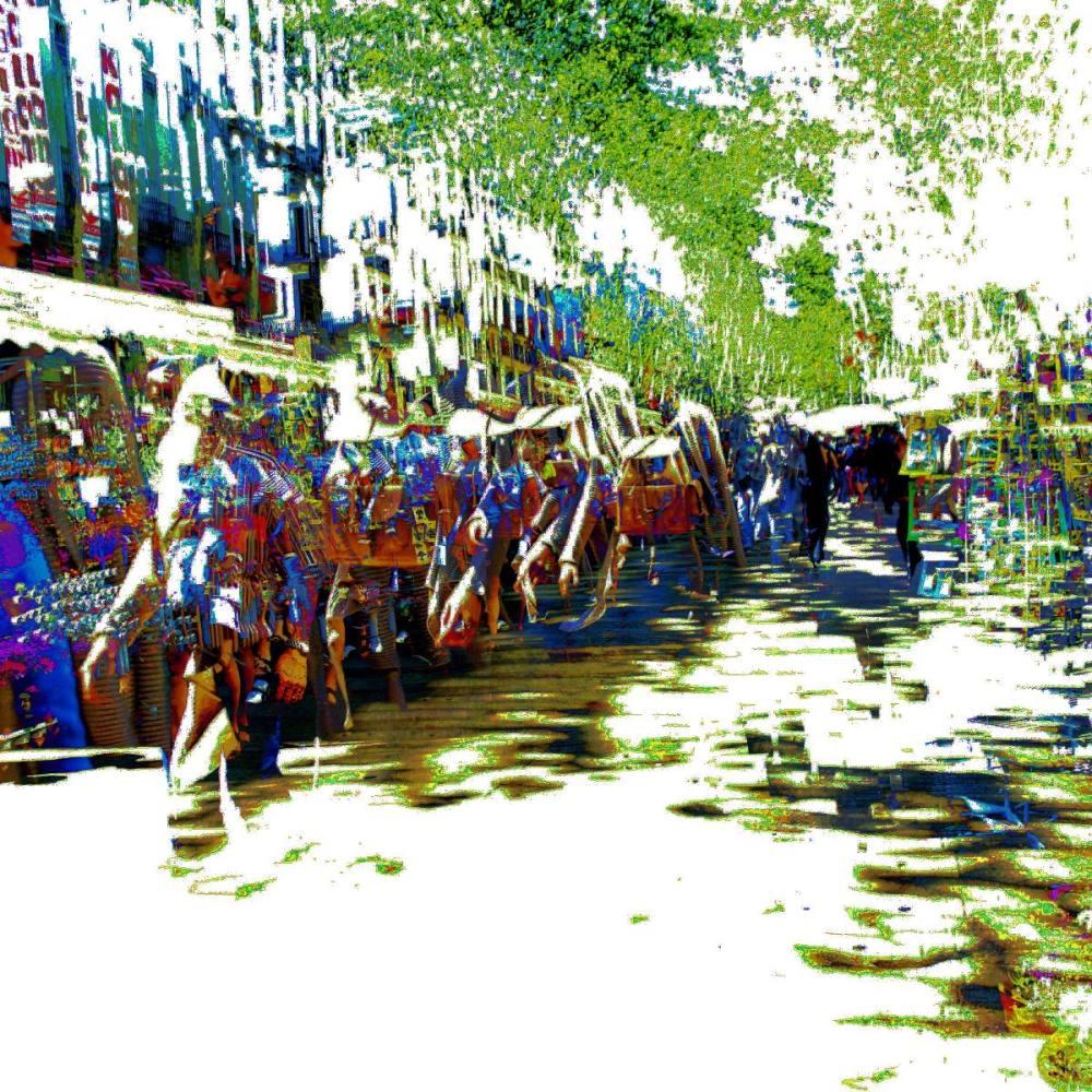 Barcelona street digital photography + The GIMP!