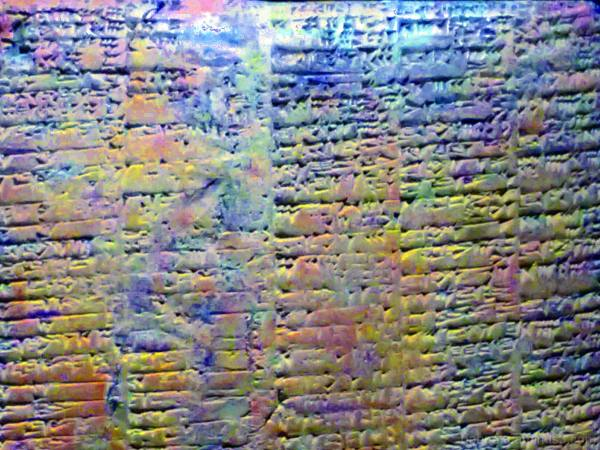 Cuneiform, smartphone image edited with The GIMP!