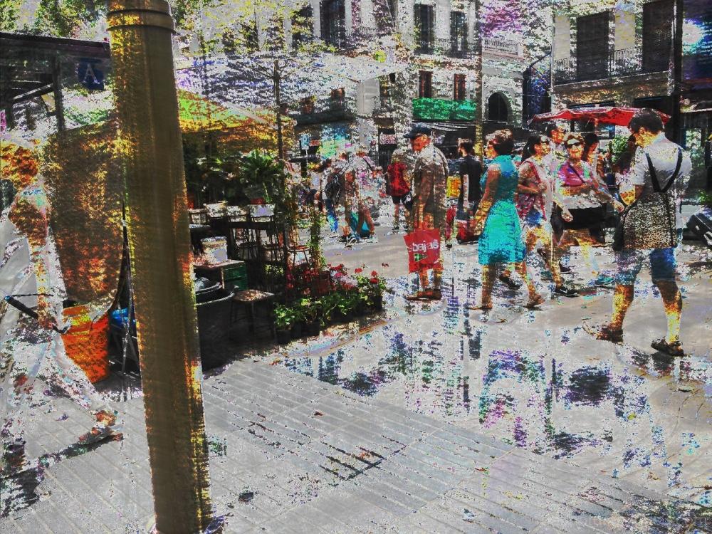 Barcelona databending/glitch street photography.