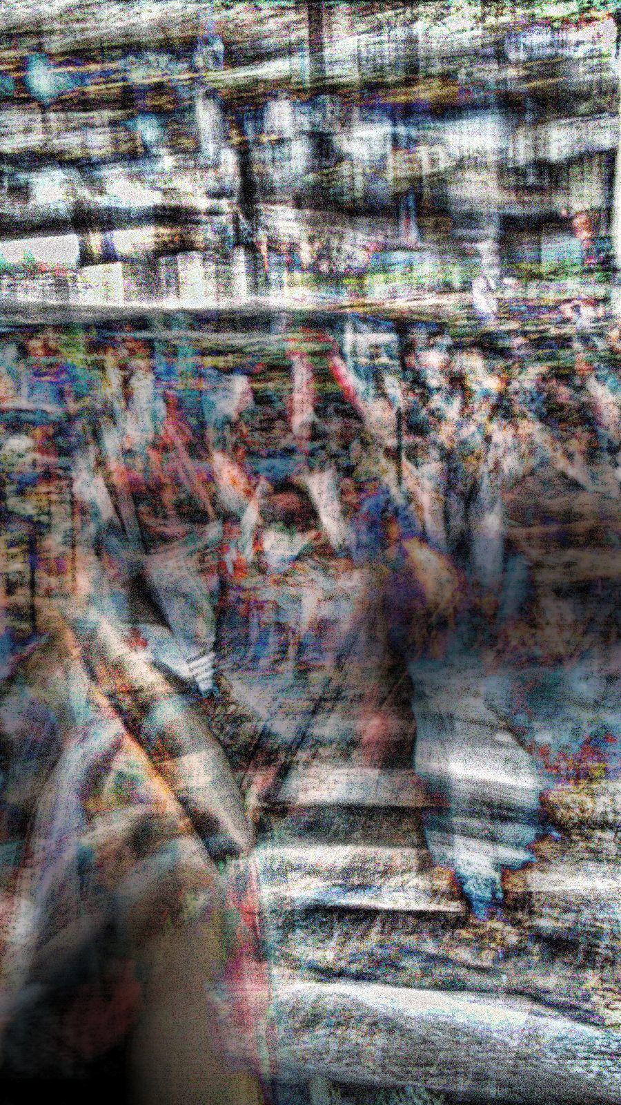 Double long exposure photomanipulation experiment.