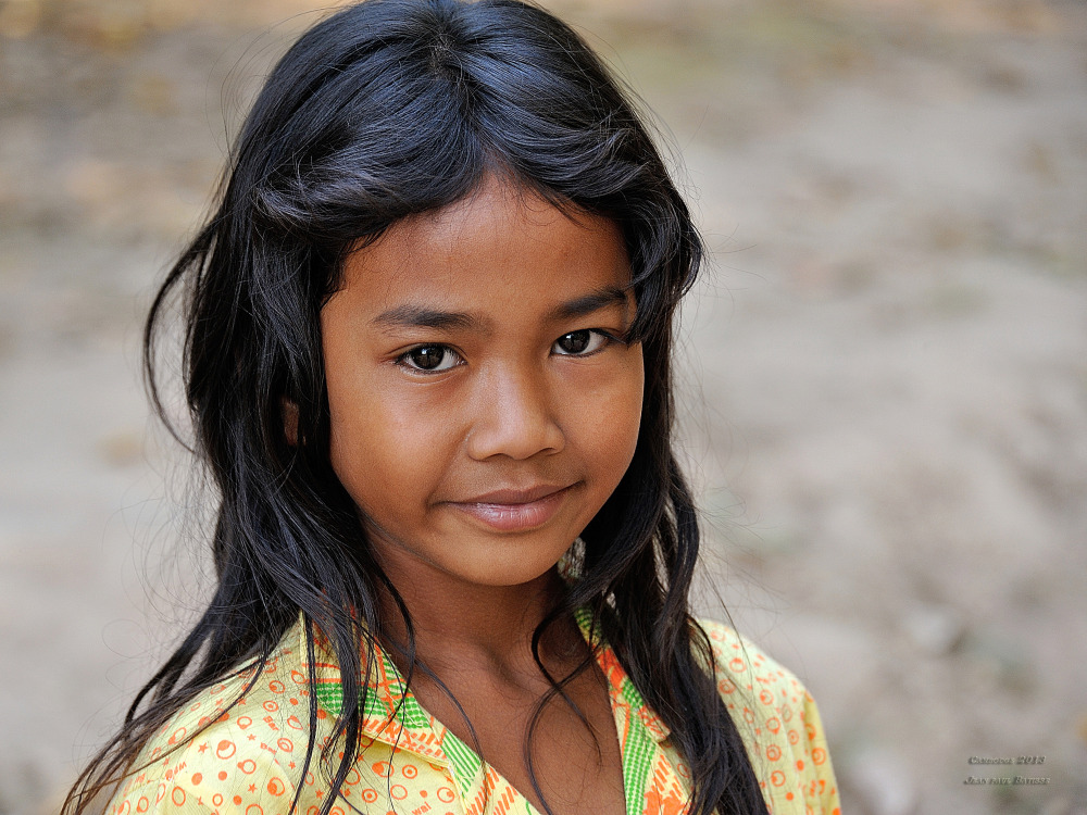 Young girl in Cambodia