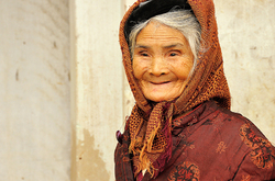 Sweet smile in Hanoi