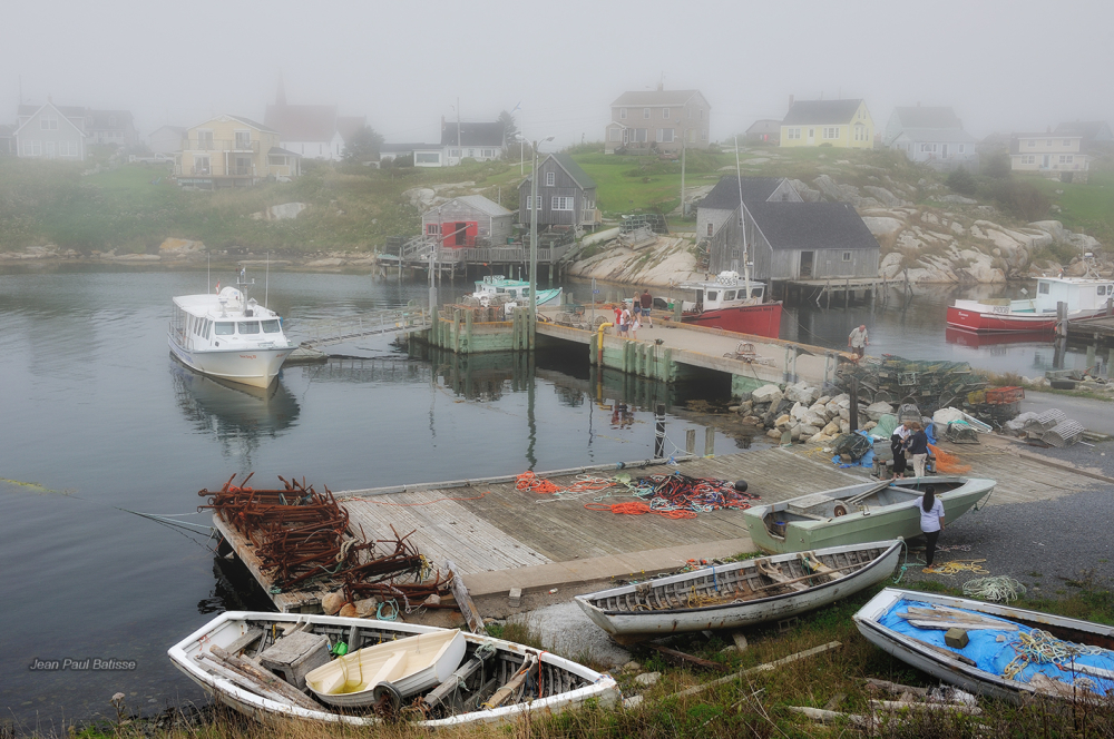 Foggy day at Peggy's cove