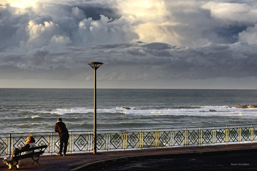 En hiver sur la côte basque