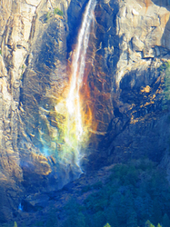 A Explosion of Colors, Bridalviel Falls, Yosemite