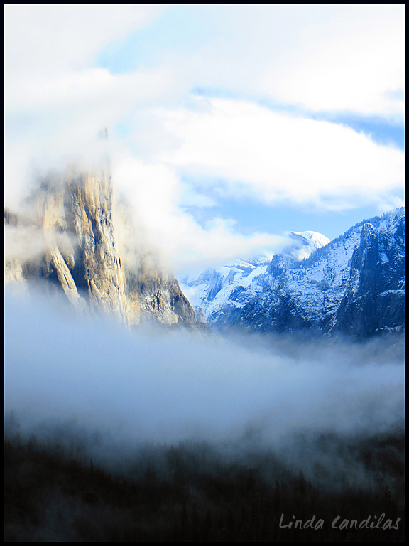 Yosemite Valley Imbraced with Fog