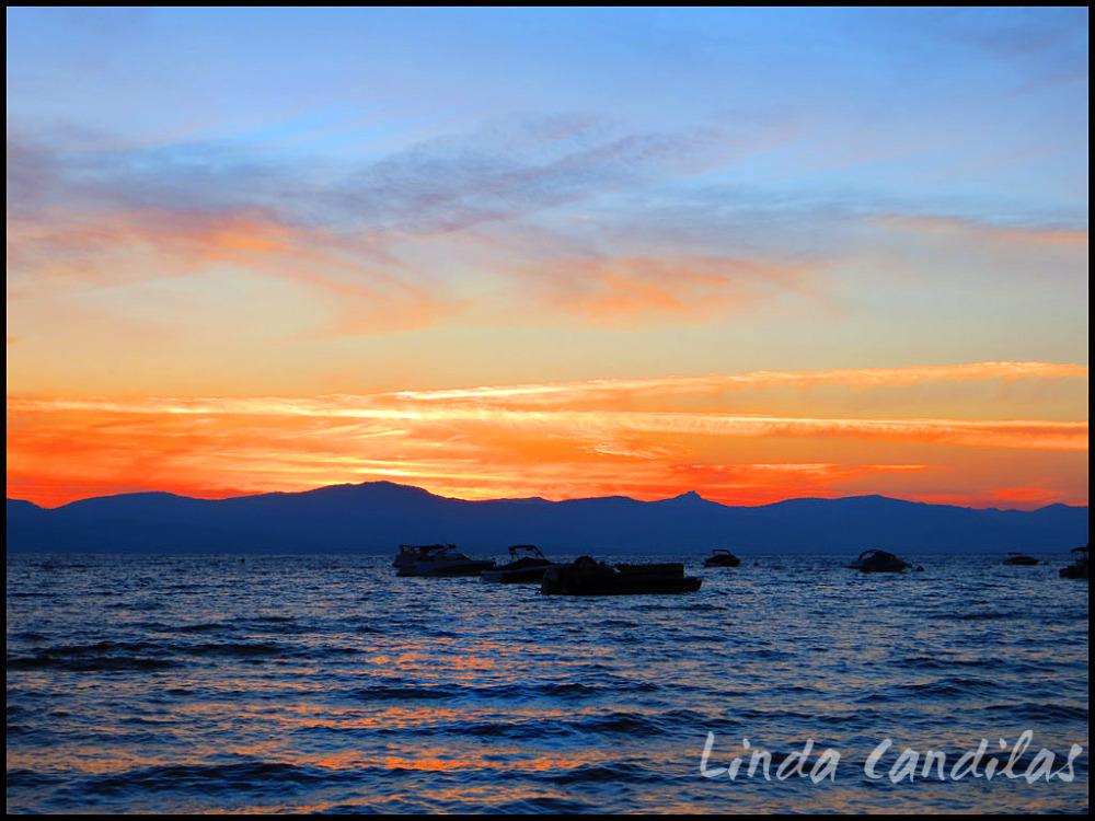 Zephyr Cove, Summer Sunset