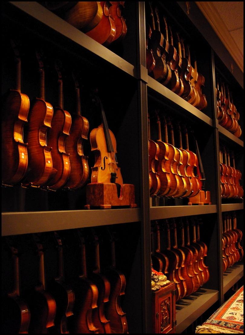 Mur de violons