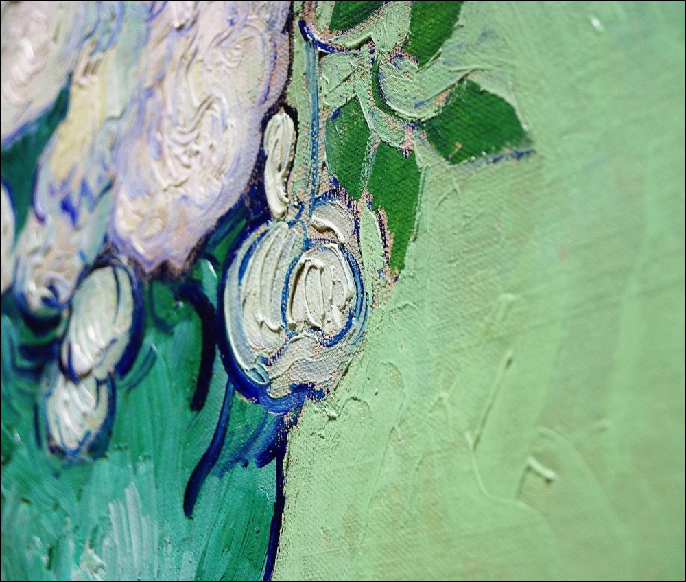 """Détail de """"Roses"""" de Vincent Van Gogh"""