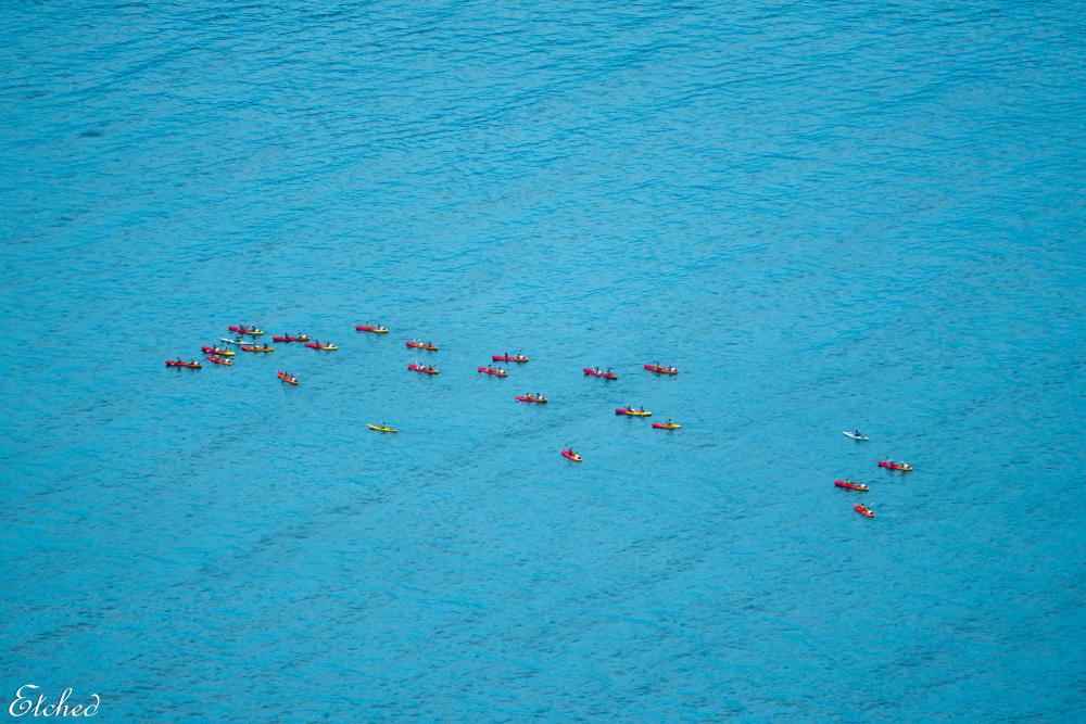 Tiny tots on the mighty ocean