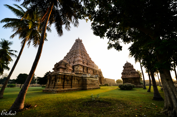 A peaceful morning at Gangaikonda Chola Puram