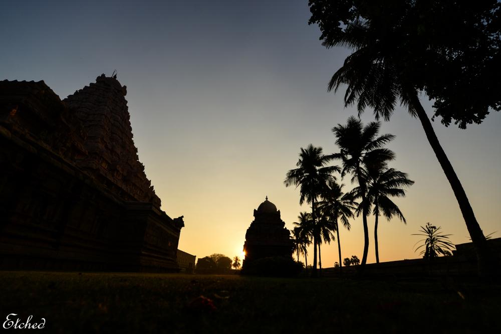 Sunrise at the Chola Temple