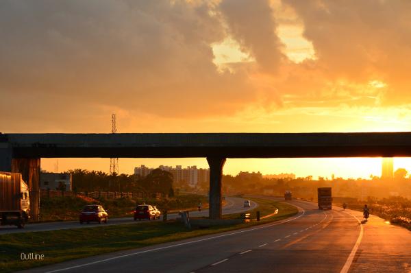 NICE road at dusk