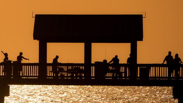 Recreation at dusk