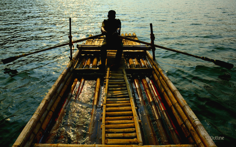 Rafting in the dusk