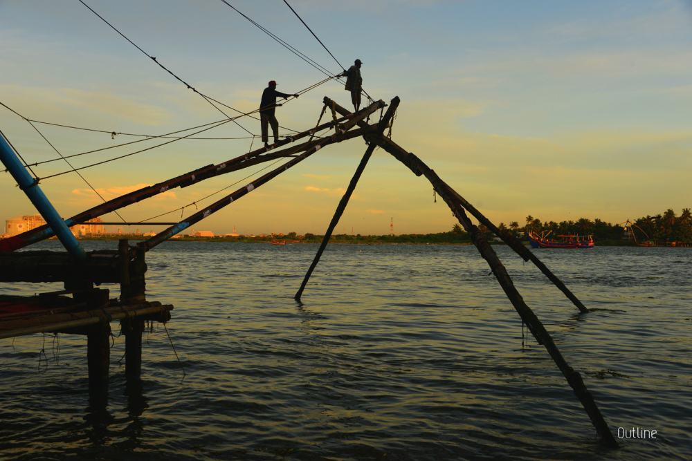 Fishing at Fort Kochi