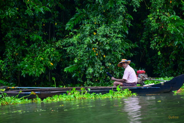 Fisherman at Vembanad