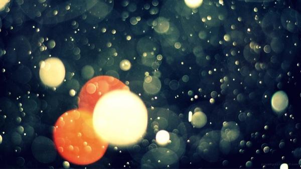Bokeh rain drops