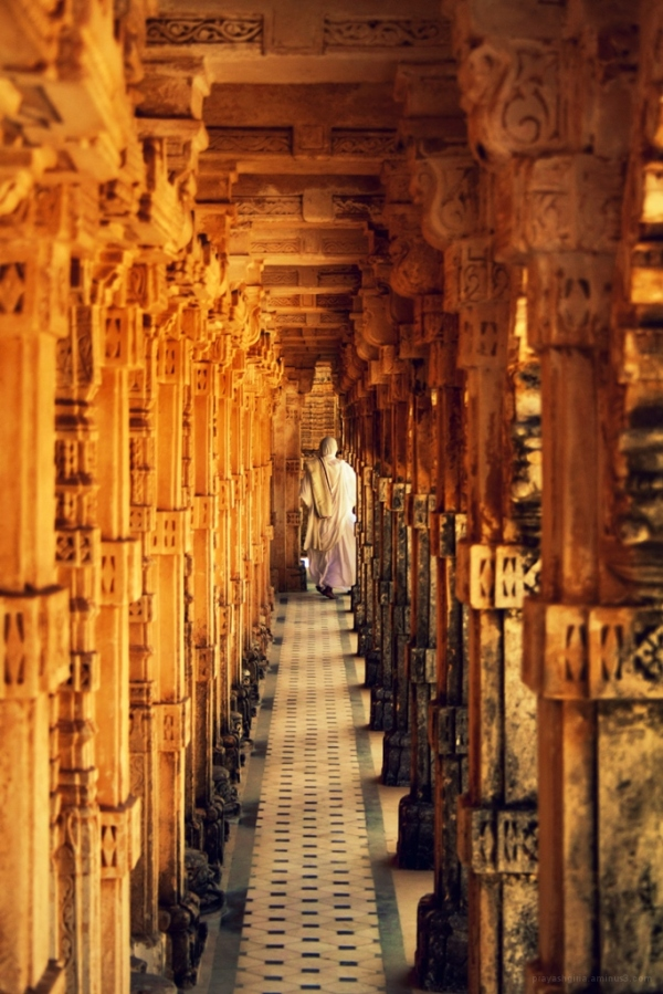 Nun in a Jain temple