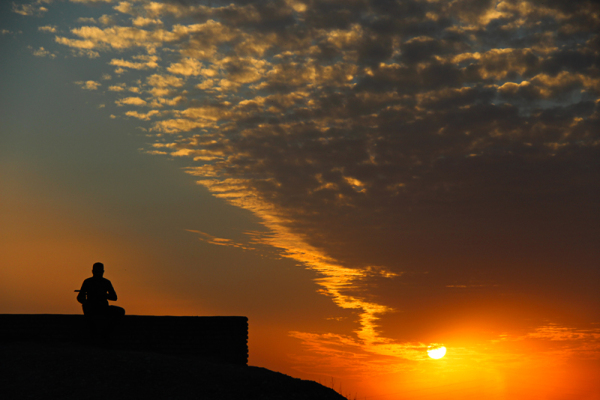 Listen to the sunset`s song ...