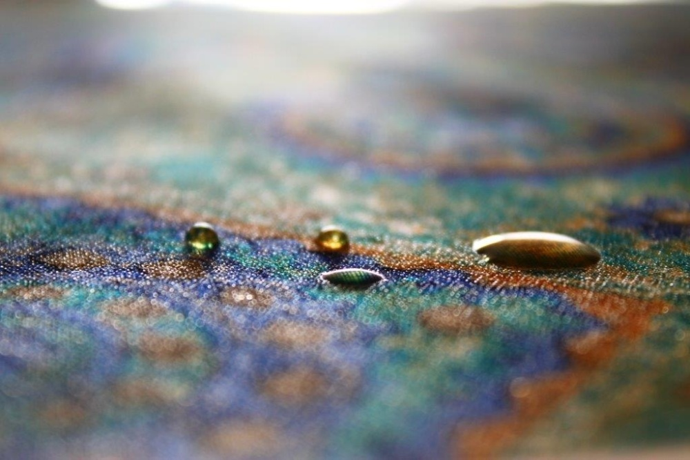 Colored drops.