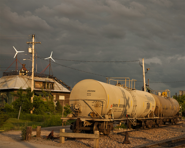 Tank Cars in the Sunset