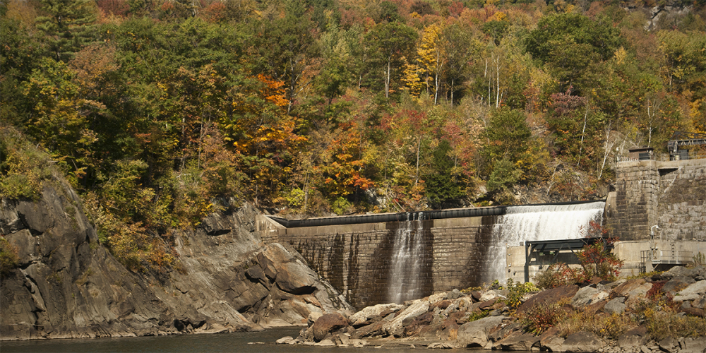 Waterbury Dam, in Vermont