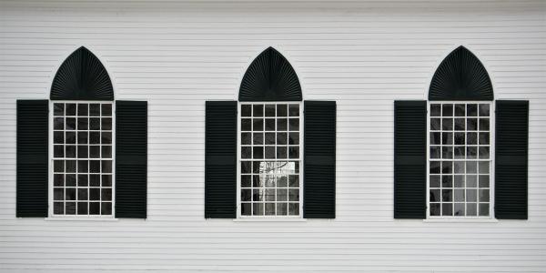 Curch windows in Vermont