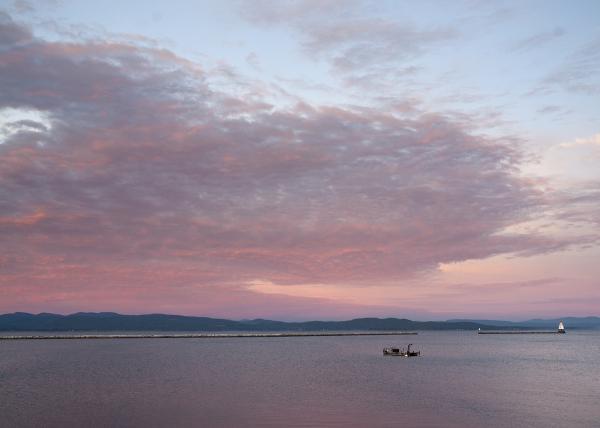 Dawn on Lake Champlain