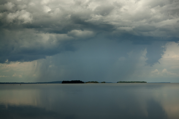 Summer Storm over Lake Champlain