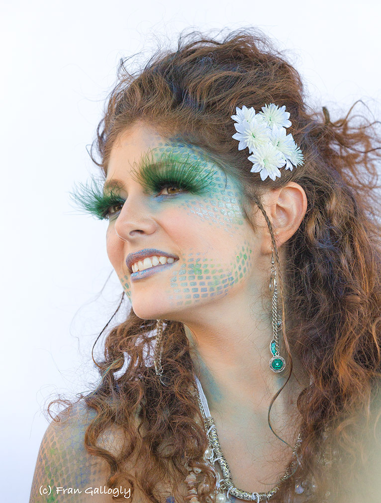 Mermaid with Green Lashes