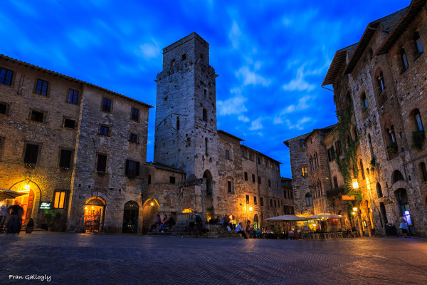 Piazza della Cistena, San Gimignano