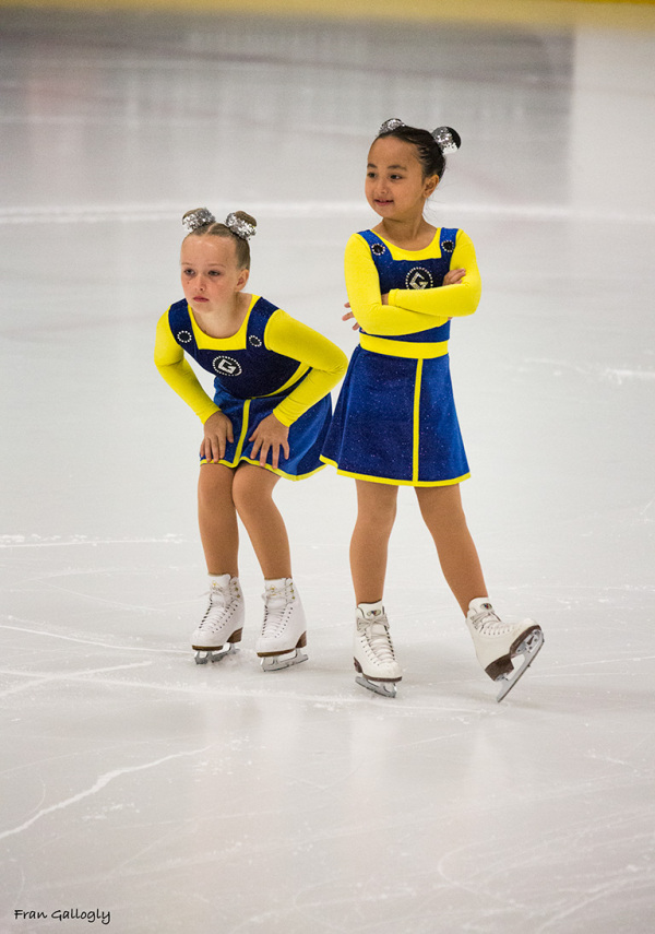 girls at synchronized skating competition