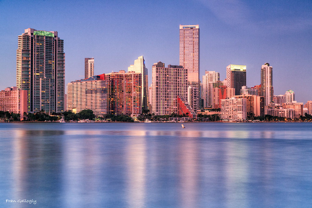 Downtown Miami as seen from across Biscayne Bay