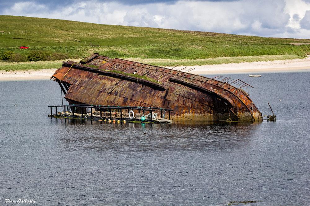 Sunken German Warship at Scapa Flow, Orkney