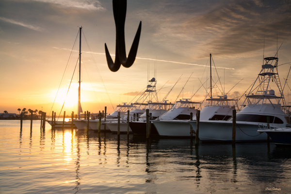 Sunset, Pelican Island Yacht Club