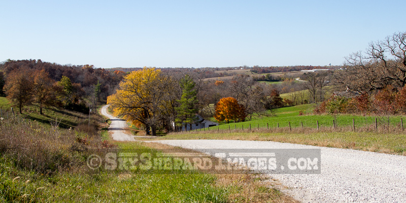 Rolling Iowa Country Road in Fall
