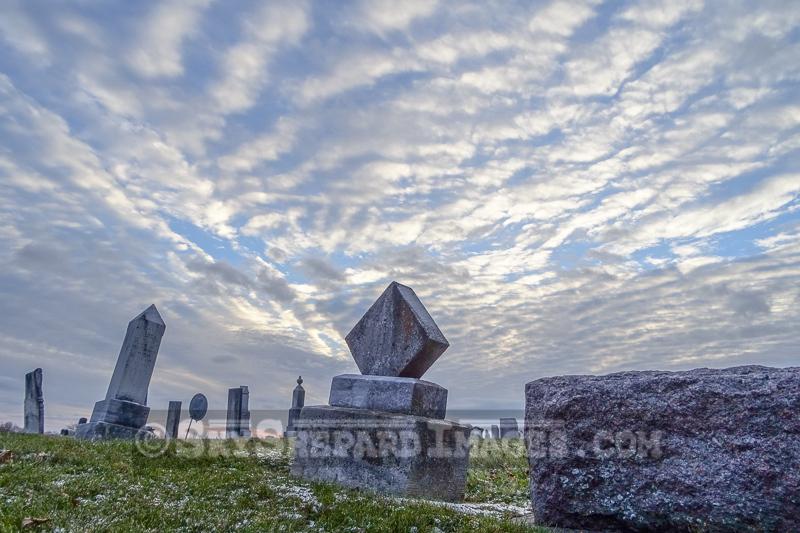 Winter Clouds over Diamond Stone in Cemetery