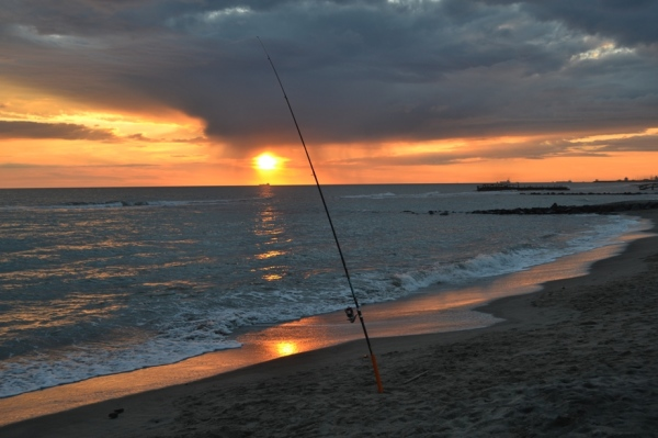 Fishing in the Tyrrhenian Sea, Ostia