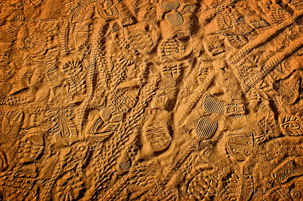 A Palimpsest of Footprints and Bike Trails