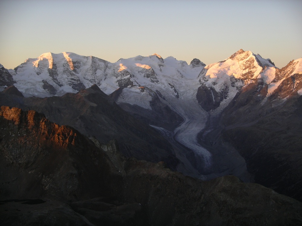 mountain alps sunrise glacier