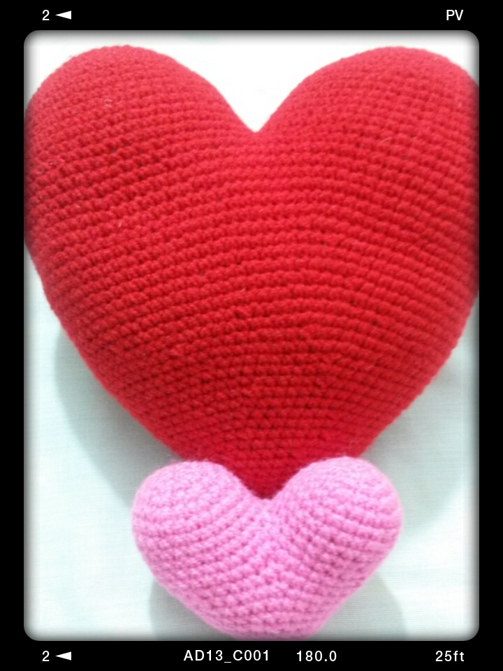 A lover heart (crochet,cushion)
