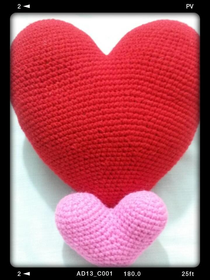 A lover heart (crochet,cushion)