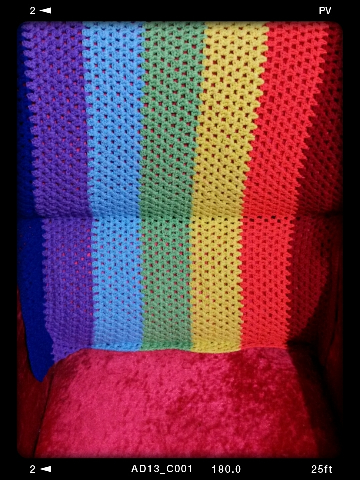 a rainbow blanket (my old crochet)