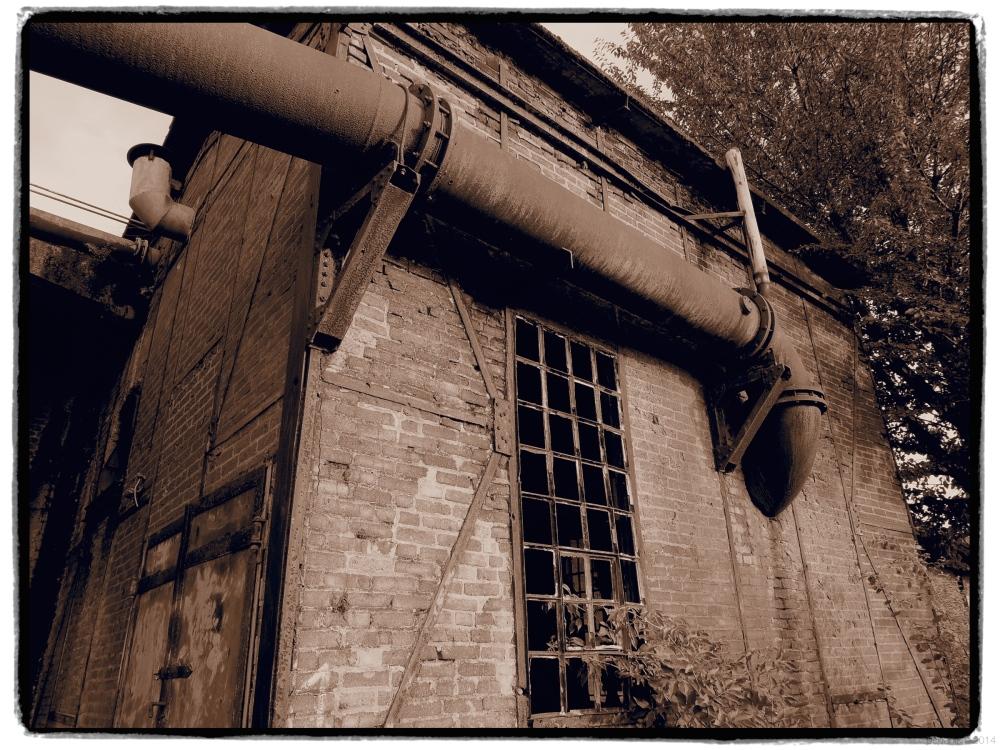 Dilapidated industrial ruin