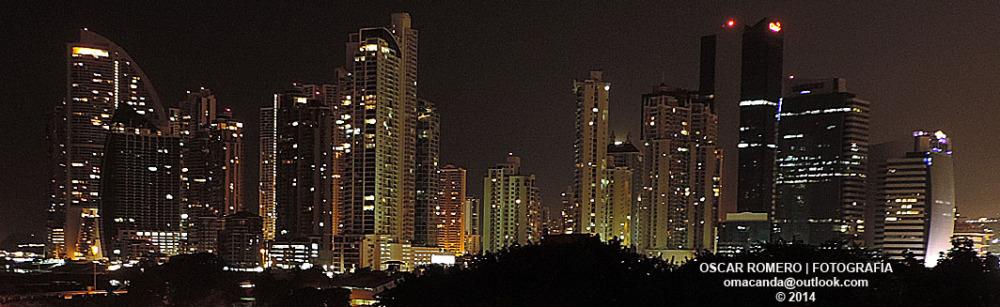 Paisaje nocturno de Panamá