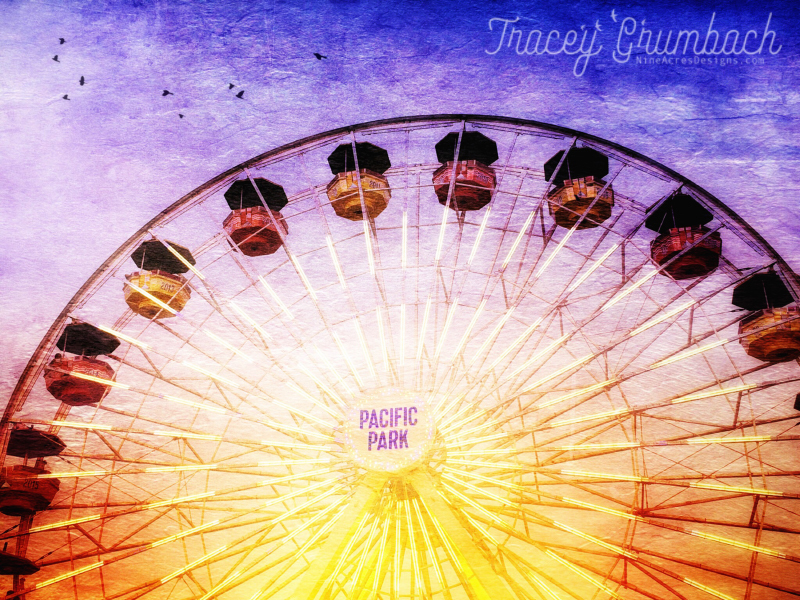 ferris wheel on Santa Monica Pier, California, USA