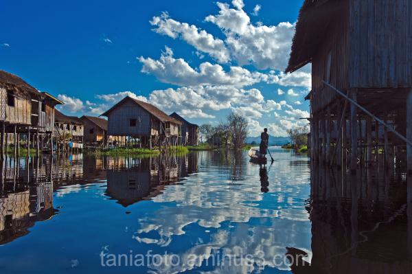 MYANMAR, INLE LAKE VILLAGE